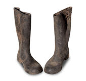 Dirty Pair Of Gumboots Royalty Free Stock Photography