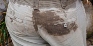 Dirty Pants Royalty Free Stock Images