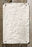 Dirty Paper On Wooden Wall. Ready For Your Message royalty free stock images