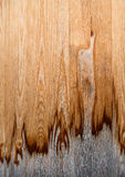 Dirty, partly weathered wood texture. Close-up of a dirty, partly weathered wood texture on a facade. Taken in vertical format Stock Images