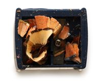 Dirty pencil sharpener Stock Images