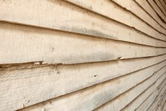 Dirty perspective wood wall Royalty Free Stock Images