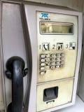 Dirty phone booth Stock Photos
