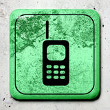 Dirty phone symbol Royalty Free Stock Image