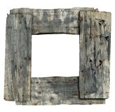 Wooden picture frame. Grunge frame made of old wood, free copy space Stock Image