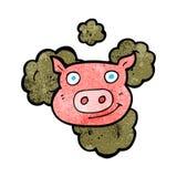Dirty pig cartoon Royalty Free Stock Photos