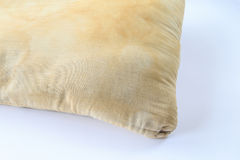 Dirty pillow on white background. Royalty Free Stock Image