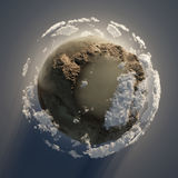 Dirty planet Stock Photography