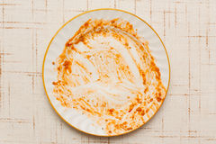 Dirty plate Stock Photos