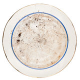 Dirty plate Royalty Free Stock Image