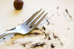 Dirty plate Stock Images