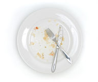 Dirty plate from above Royalty Free Stock Image