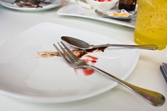 Dirty plate Stock Photography