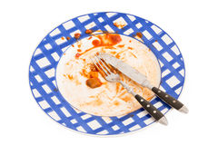 Dirty plate Royalty Free Stock Images