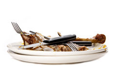 Free Dirty Plates. Stock Photos - 17468293