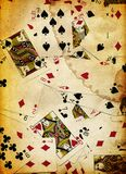 Dirty Playing Cards Background Texture Design Royalty Free Stock Photo