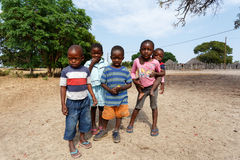 Dirty and poor Namibian childrens Royalty Free Stock Image