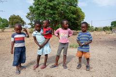 Dirty and poor Namibian childrens Stock Photography