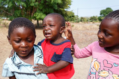 Dirty and poor Namibian childrens Royalty Free Stock Photo
