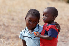 Dirty and poor Namibian childrens Royalty Free Stock Images