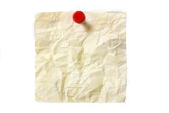 Dirty Post it Stock Image