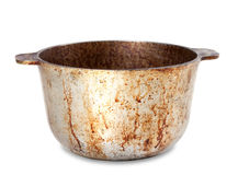 Dirty pot. On white background Stock Photo