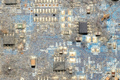 Dirty print circuit board Royalty Free Stock Photography