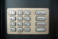 Dirty Public Keypad. A dirty alphanumerical keypad at a public place Stock Photo