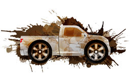 Dirty puckup with big wheels Royalty Free Stock Images