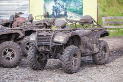 Dirty Quad bike. In the nature Royalty Free Stock Image