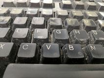Keyboard with dust Stock Images