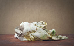 Dirty rag. A dirty rag used for painting Royalty Free Stock Photo