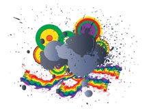 Dirty rainbow logo Royalty Free Stock Image