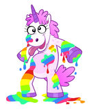 Dirty rainbow unicorn Stock Photos