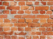 Dirty Red Brick Background 1. The abstract photo of the old and dirty red brick wall royalty free stock photography