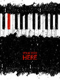 Dirty red piano key Stock Photography