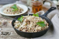 Dirty rice with ground beef Royalty Free Stock Photography