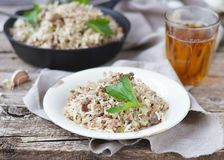 Dirty rice with ground beef Stock Photo