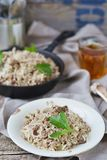 Dirty rice with ground beef Royalty Free Stock Photo