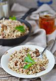Dirty rice with ground beef Stock Photos