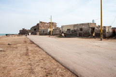 Dirty road in Hormoz village Stock Photos