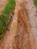 Dirty road with mud after rain Stock Image