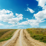 Dirty road to horizon Royalty Free Stock Image