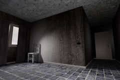 Dirty room. 3d rendering of an abandoned and dirty room Stock Photography