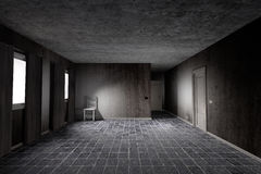 Dirty room. 3d rendering of an abandoned and dirty room vector illustration