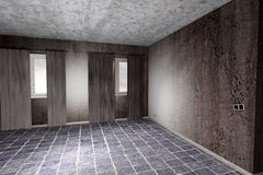 Dirty room. 3d rendering of an abandoned and dirty room Stock Images