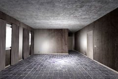Dirty room. 3d rendering of an abandoned and dirty room Royalty Free Stock Photography
