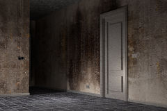 Dirty room. 3d rendering of an abandoned and dirty room Royalty Free Stock Images