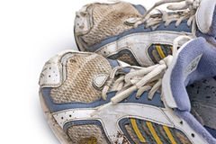 Dirty running shoes Stock Images