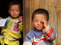 Dirty rural children. Laos Royalty Free Stock Images